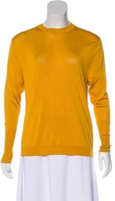 Acne Studios Silk Open-Back Long Sleeve Top