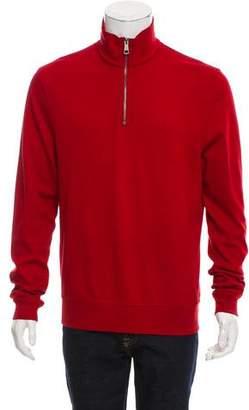Burberry Equestrian Knight Half-Zip Sweater