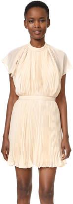 Keepsake Come Back Pleated Mini Dress $170 thestylecure.com
