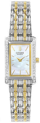 JCPenney Citizen Quartz Citizen Womens Two-Tone Watch EK1124-54D