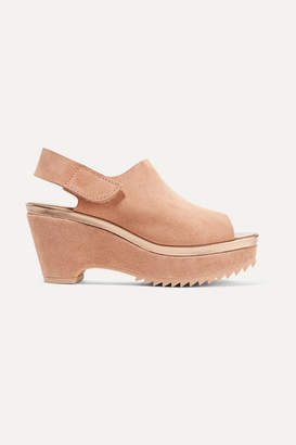 Pedro Garcia Felipa Suede Slingback Wedge Sandals - IT36