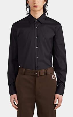 Prada Men's Cotton-Blend Slim Shirt - Black
