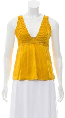 See by Chloe Crocheted Silk Top