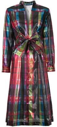 Toga foil bow dress