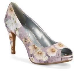 Bandolino Rainaa Floral Textile Peep Toe Pumps