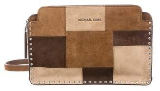 MICHAEL Michael Kors Suede Patchwork Zip Crossbody Bag