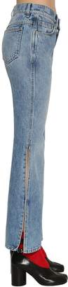 Maison Margiela Flared Washed Denim Jeans W/ Side Slits