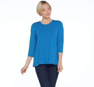 Joan Rivers Classics Collection Joan Rivers 3/4 Sleeve Knit Top with Pleated Back