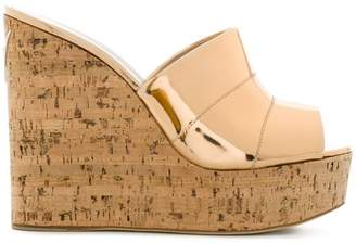 Giuseppe Zanotti Design cork wedged sandals