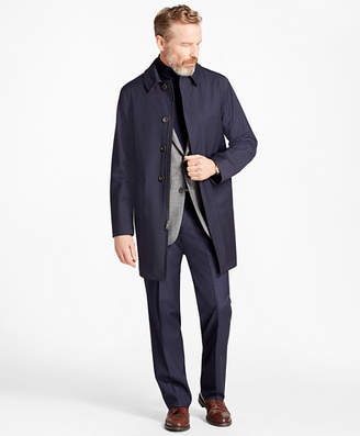 Brooks Brothers Mini-Check Trench Coat