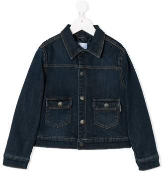 Moschino Kids logo embroidered denim jacket