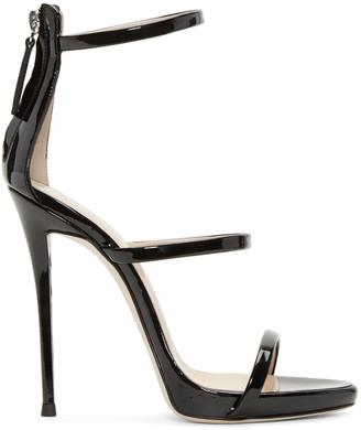 Giuseppe Zanotti Black Colline Heeled Sandals $845 thestylecure.com