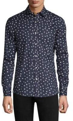 Michael Kors Dot-Print Button-Down Shirt