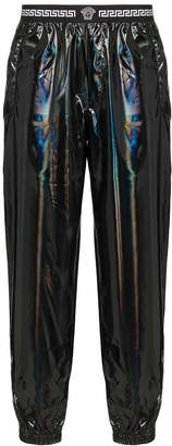 Versace holographic track trousers