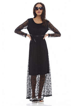 AX Paris Lace Long Sleeved Maxi Dress