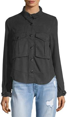 Pistola Women's Pleated Back Button-Down Shirt