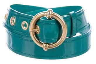 Miu Miu Patent Leather Buckle Belt