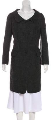 Hache Wool Knee-Length Coat