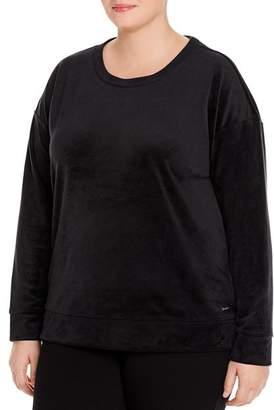 Andrew Marc Plus Velour Sweatshirt