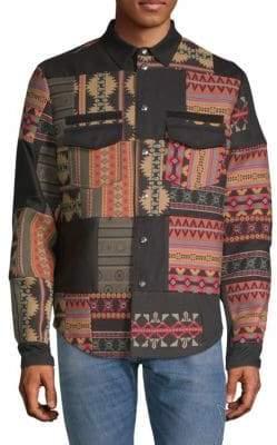 Valentino Patchwork Shirt Jacket