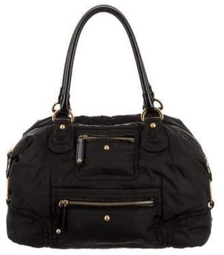 Tod's Leather-Trimmed Nylon Shoulder Bag Black Leather-Trimmed Nylon Shoulder Bag