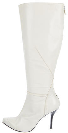 CNC Costume NationalCostume National Leather Pointed-Toe Mid-Calf Boots