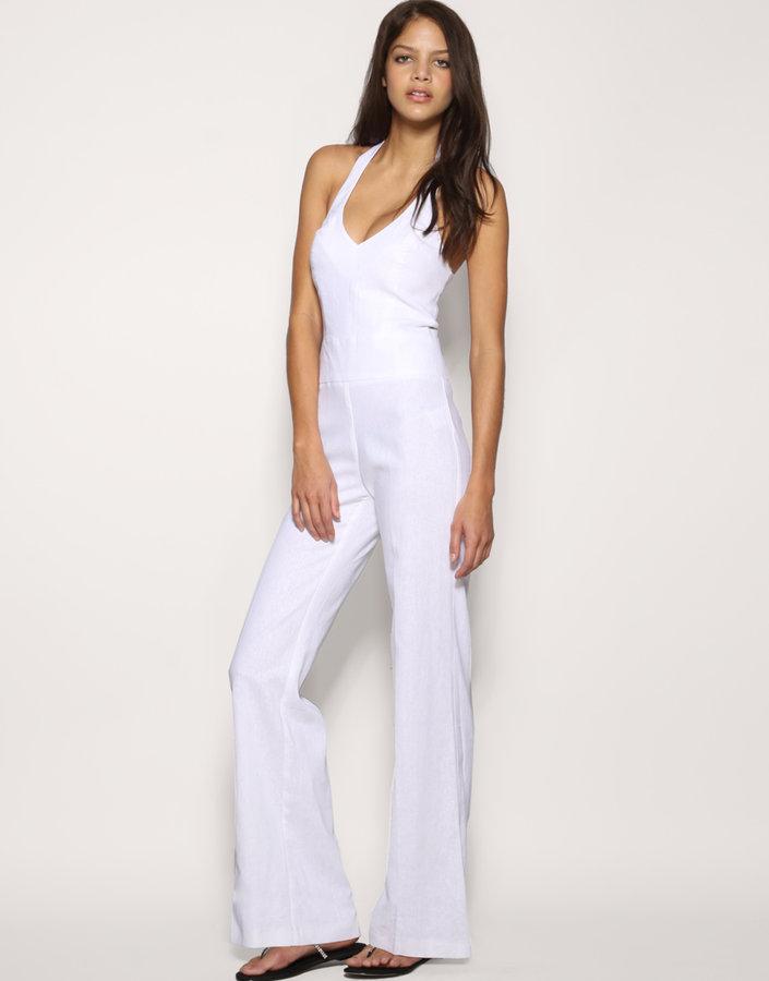 ASOS Tailored Linen Wide Leg Jumpsuit
