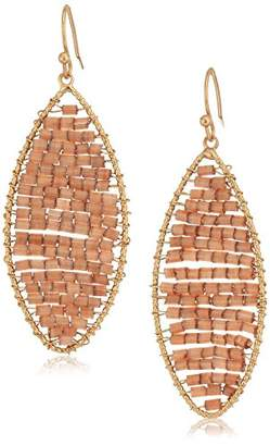 Panacea Brown Bead Marquis Drop Earrings