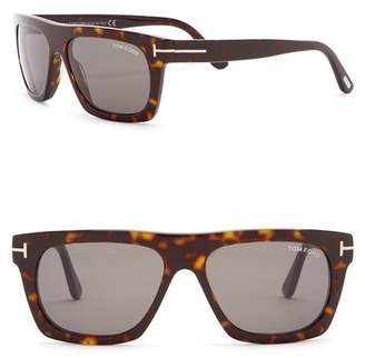 Tom Ford Women's Ernesto 55mm Square Flat Top Sunglasses