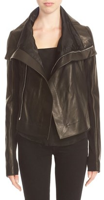 Women's Rick Owens 'Clean' Leather Biker Jacket $1,895 thestylecure.com