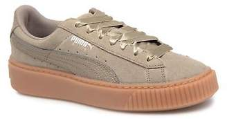 Puma Women's Suede Platform Bubble Wn's Lace-up Trainers in Grey