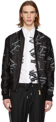 Dolce & Gabbana Black Tape Logo Bomber Jacket