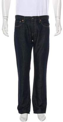 Simon Spurr Linen-Blend Straight-Leg Jeans