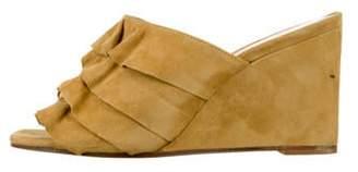 Creatures of Comfort Ruffle-Accented Slide Sandals Ruffle-Accented Slide Sandals