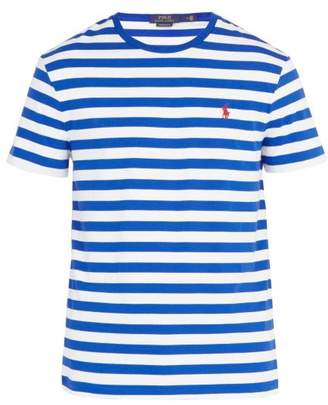 Polo Ralph Lauren Logo Embroidered Cotton Jersey T Shirt - Mens - White Multi