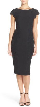Women's Maggy London Lace Detail Crepe Sheath Dress $148 thestylecure.com