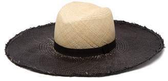 Lafayette House Of Almond Contrast Brim Straw Hat - Womens - Beige