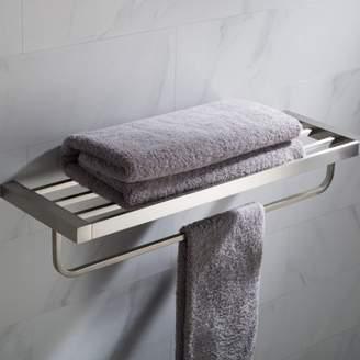Kraus KRAUS Stelios Bathroom Shelf with Towel Bar, Brushed Nickel Finish