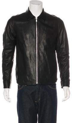 Theory Collared Leather Jacket w/ Tags