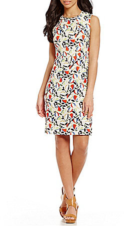 Anne Klein Anne Klein Sleeveless Printed Sheath Dress
