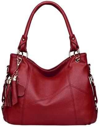 Yair Yangtze Genuine Leather Handbags Tote bag with Tassel Pendant for Women