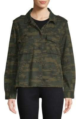 Sanctuary In The Fray Camouflage Cotton Jacket