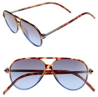 MARC JACOBS 56mm Aviator Sunglasses $160 thestylecure.com