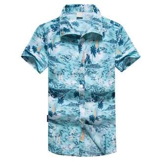 b9418211 nanzhushangmao tshirt Hawaiian Shirts Mens Bamboo Tree Print Beach Aoha  Party Hoiday Vintage Tropica Fora Print