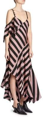 Marques Almeida Marques'Almeida Asymmetrical Striped Midi Dress