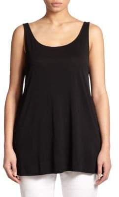 Eileen Fisher Eileen Fisher, Plus Size Plus Silk Tank Top