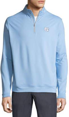 Peter Millar Men's UNC Solid Stretch Half-Zip Shirt
