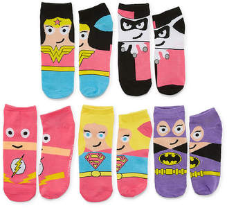 Asstd National Brand 5 Pair DC Comics No Show Socks - Womens