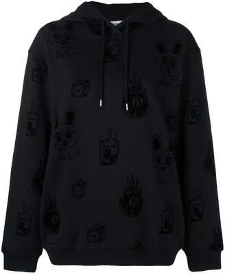 McQ bunny printed hoodie