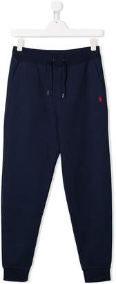 Ralph Lauren Kids TEEN embroidered logo track trousers